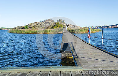 Bridge to a small island in Karlskrona