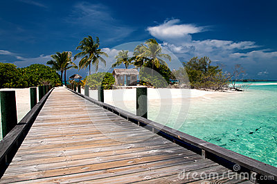 Bridge to a tropical island