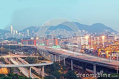 Bridge of transportation ,container pier.