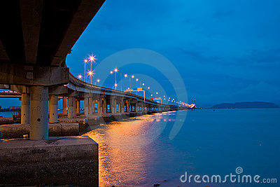 Bridge view at dusk