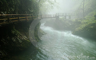Bridge in the Vintgar Gorge - Slovenia