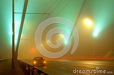 The Bridge Way In A Fog