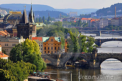 Bridges Of Prague Stock Photography - Image: 9778212