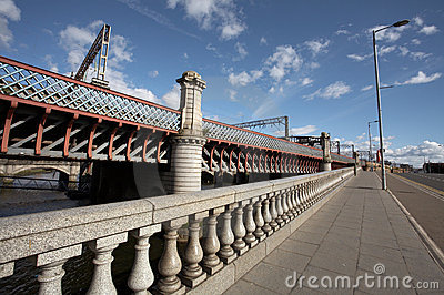 Bridges through the river Clyde in Glasgow
