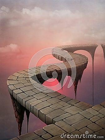 Free Bridges, Road Fantasy Stock Photos - 15076673