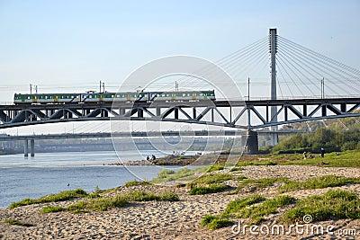 Bridges in Warsaw, Poland Editorial Image