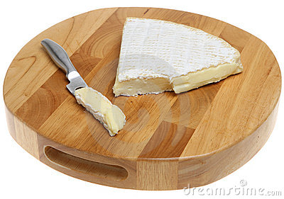 Brie Cheese on Cheeseboard.