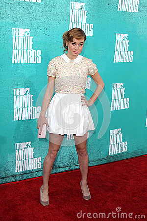 Brie Larson arriving at the 2012 MTV Movie Awards Editorial Photo