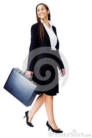 Free Briefcase Business Woman Stock Image - 26666841