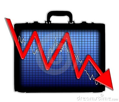 Briefcase Chart Losing Profits