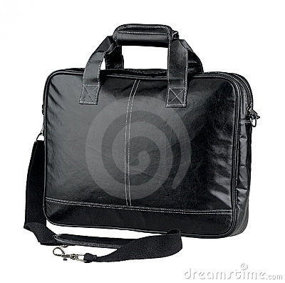 Briefcase or computer leather bag isolated