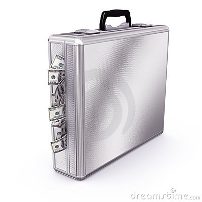 Briefcase full of Dollars Bills