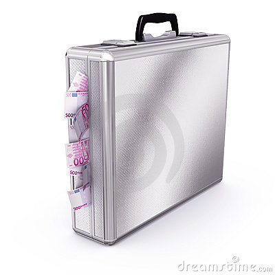 Briefcase full of Euro Bills