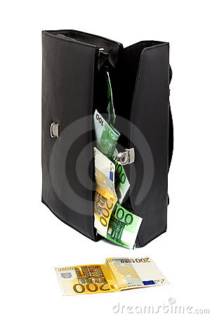 Briefcase With Money Stock Photos - Image: 10604093
