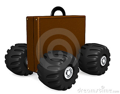 Briefcase on wheels
