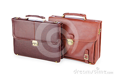 Briefcases isolated