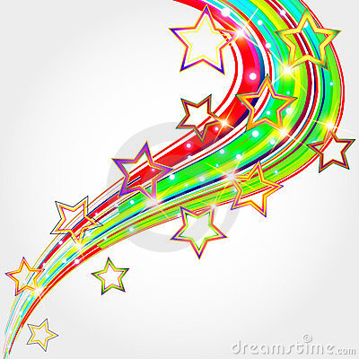 Bright abstract background  with  stars.