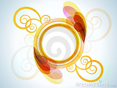 Bright abstract frame for your design