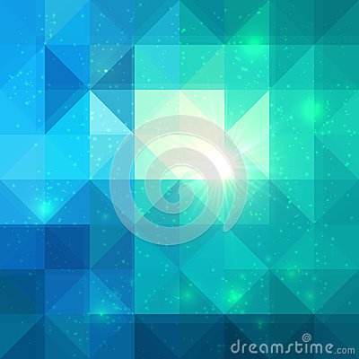 Free Bright Abstract Triangles Blue Vector Background Royalty Free Stock Photography - 33464847