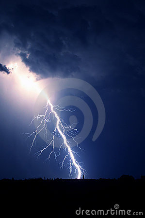 Bright amazing lightning bolt