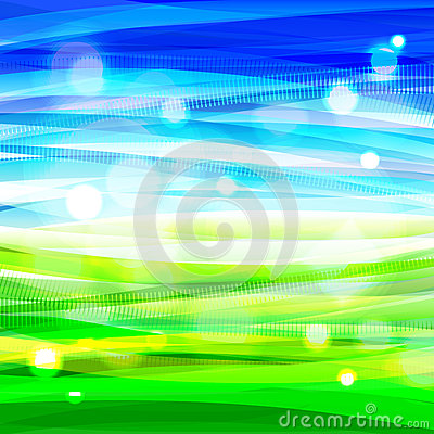 Free Bright Bacground With Abstract Sky And Grass Stock Photos - 38837073