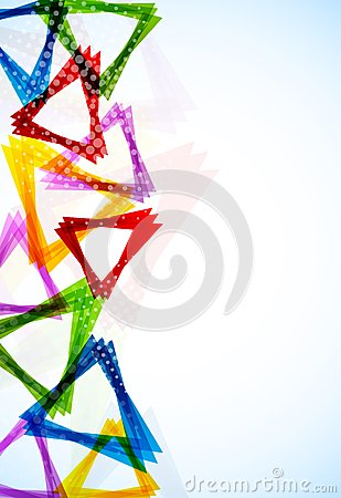 Bright background with triangles