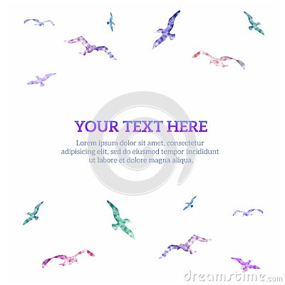 Free Bright Background With Birds, Vector Illustration Stock Images - 45127714