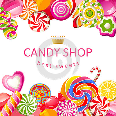 Free Bright Background With Candies Stock Images - 38561064