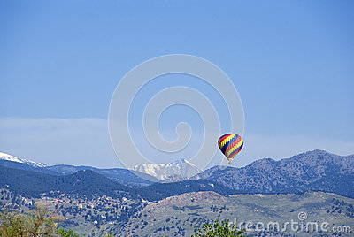 Bright Balloon Over Blue Mountains