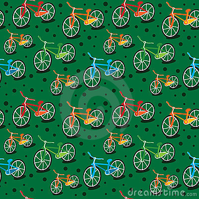Bright bicycle pattern