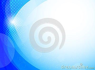 Bright blue background
