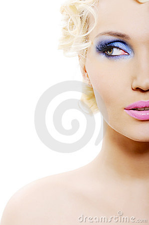Free Bright Blue Make-up Stock Photos - 9352513