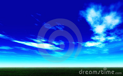 Bright blue sky on summer season