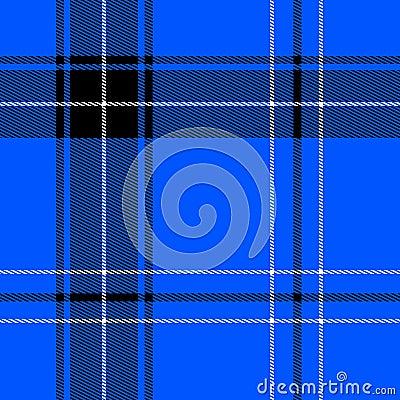 Bright blue tartan