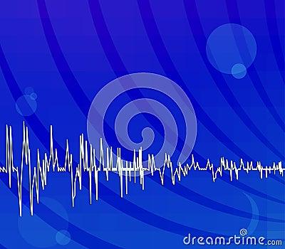 Bright blue techno background