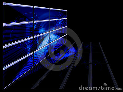 Bright blue technological