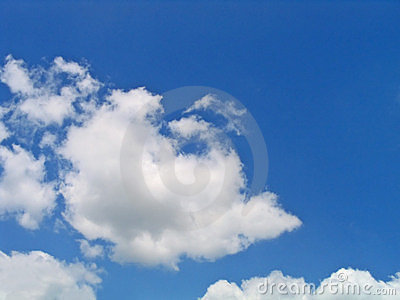 Bright blue and white clouds