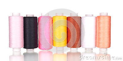 Bright bobbin thread isolated