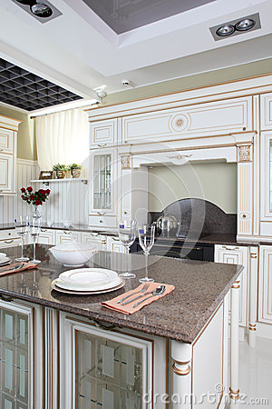 Bright brand new european kitchen