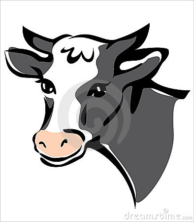 Bright brown smiling cow portrait