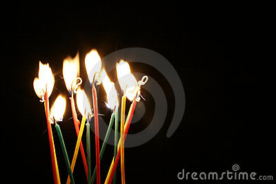 Bright candles