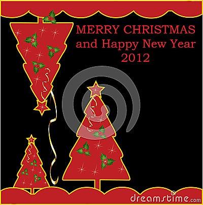 Bright cartoon Christmas background