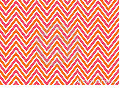Bright chevron red, orange and white pattern