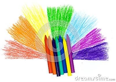 Bright children s wax pencils