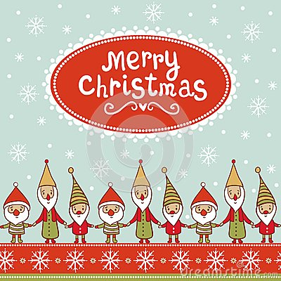 Bright Christmas card with textbox.