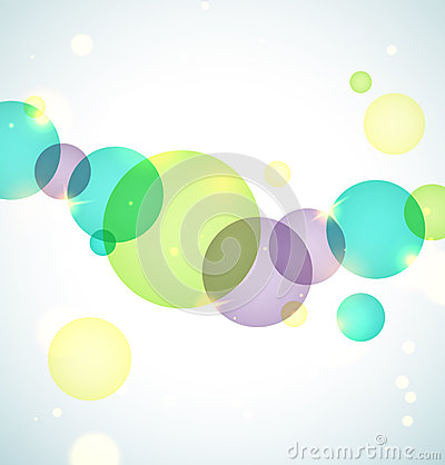 Bright circles background