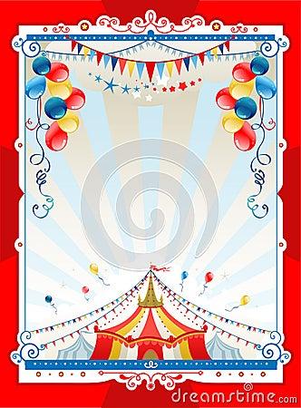 Bright circus frame