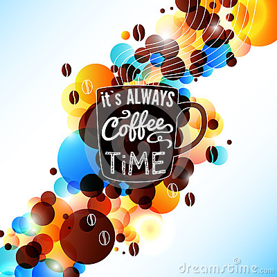 Free Bright Coffee Background With Flare Effect. Stock Photos - 34659003