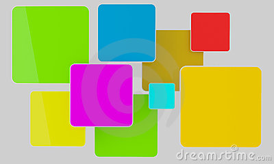 Bright color rectangles