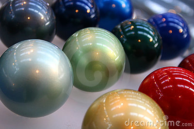 Bright colored globes